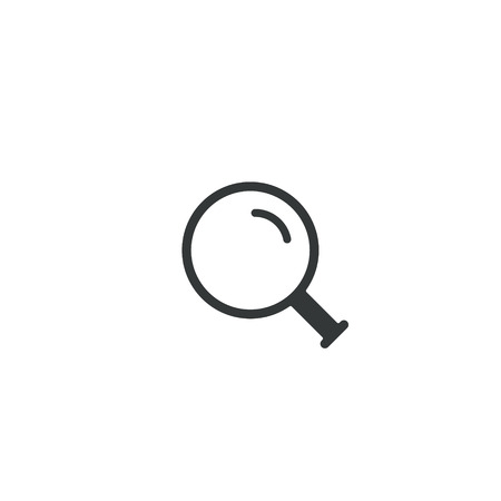 Magnifying glass icon, vector magnifier or loupe sign. Search concept. Ilustracja