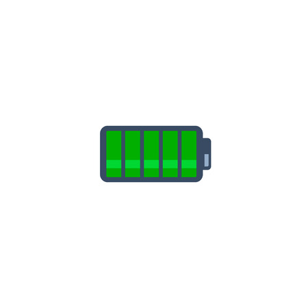 Battery vector icon, simple flat isolated illustration. 写真素材 - 127895452