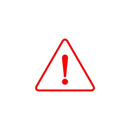 Hazard warning attention sign with exclamation mark symbol. Vector. Stockfoto - 127895454