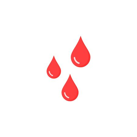 Drops of blood icon. Vector isolated illustration in flat design. 写真素材 - 125929328
