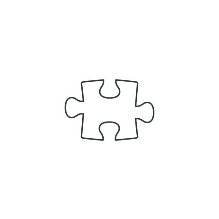 Puzzle line icon. Puzzle sign isolated on white. Vector.