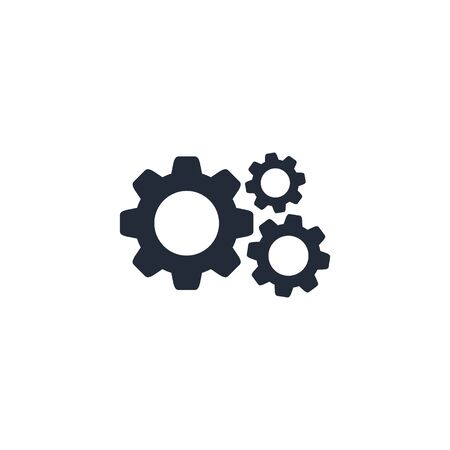 Cog Gear icon vector flat sign isolated on white. Stockfoto - 132509952