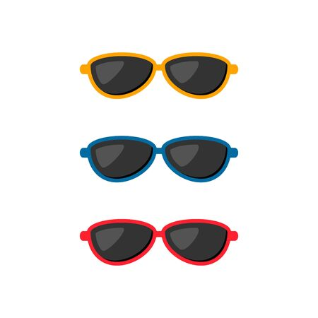 Sunglasses icon set vector isolated flat illustration. Stockfoto - 132120986