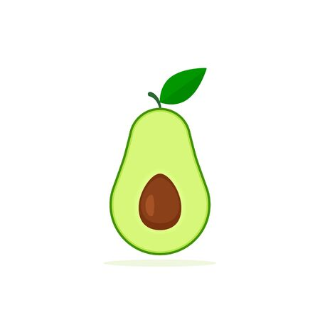Vector avocado icon isolated on white background. Simple flat illustration. Stockfoto - 132509963