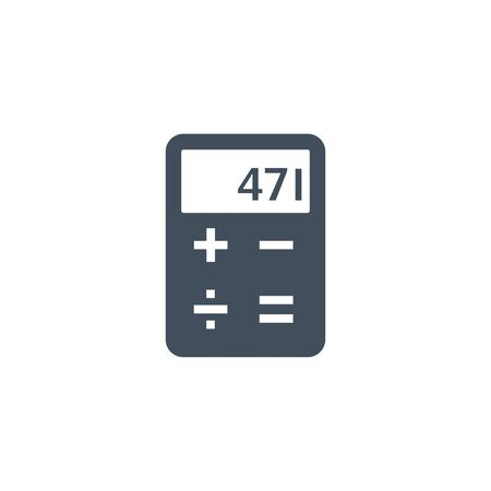 Calculator icon, Vector Isolated simple flat illustration.