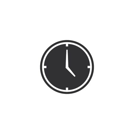Clock icon, Vector flat design simple illustration. Time symbol.