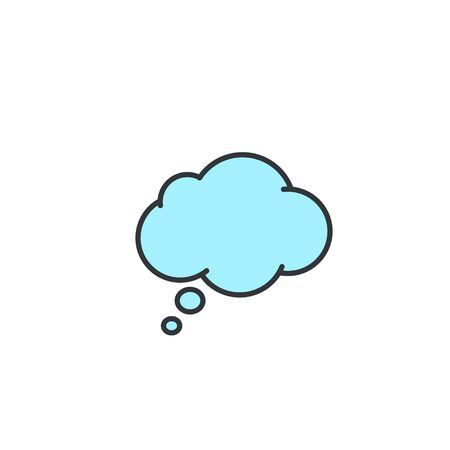 Think Speech Bubble icon, Vector color isolated sign. Stockfoto - 132813597