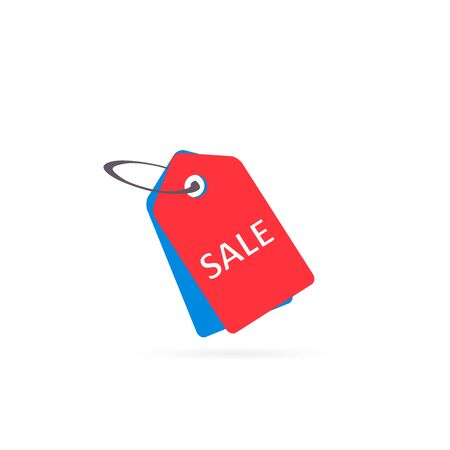 Price tag icon, sale label symbol, Vector isolated flat color illustration.