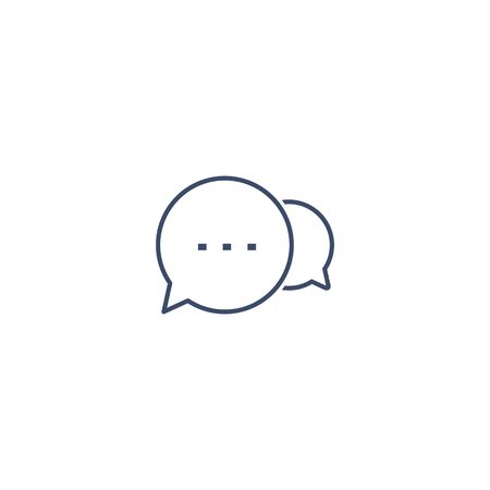 Speech Bubbles line Icon, Vector isolated flat design illustration. Stockfoto - 133190334