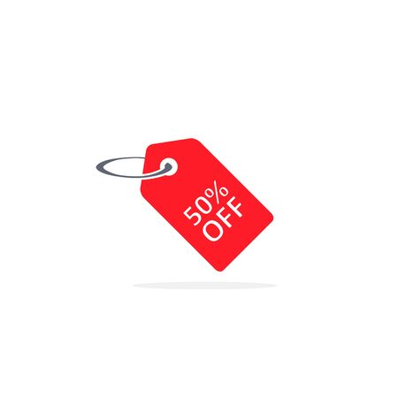 Discount price label icon, Vector isolated illustration.  イラスト・ベクター素材