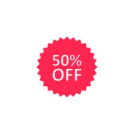 Discount price sticker icon, Vector isolated illustration.