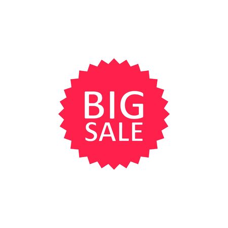 Sale tag, sticker and label icon, vector isolated background.  イラスト・ベクター素材