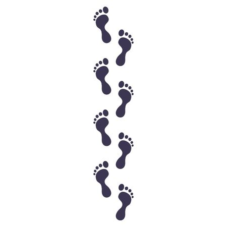 Icône de traces. Ensemble de vecteurs d'empreintes. pas humains, pas de bébé et d'homme adulte, symboles de pas de personnes.
