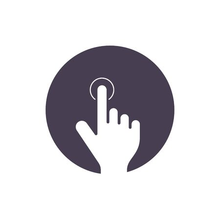 Touch finger icon. Click push symbol Vector isolated flat illustration.