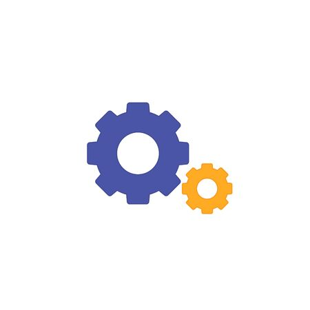 Gear Cogwheel icon, Vector isolated color flat illustration. Service or setting symbol.
