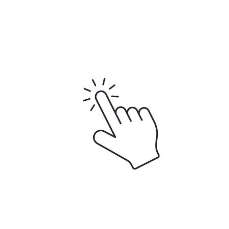 Click icon, finger cursor symbol vector illustration.