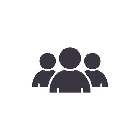 Team Icon, Vector isolated flat design illustration. Vetores