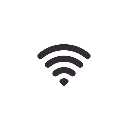 Wifi icon, wi-fi Wireless Vector isolated flat design illustration.