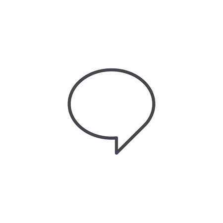 Speech bubble line icon. Vector isolated flat design outline illustration.