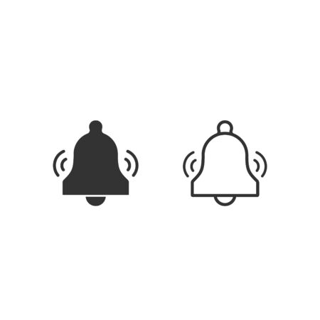 Ringing Bell icon set, Vector isolated simple illustration.  イラスト・ベクター素材