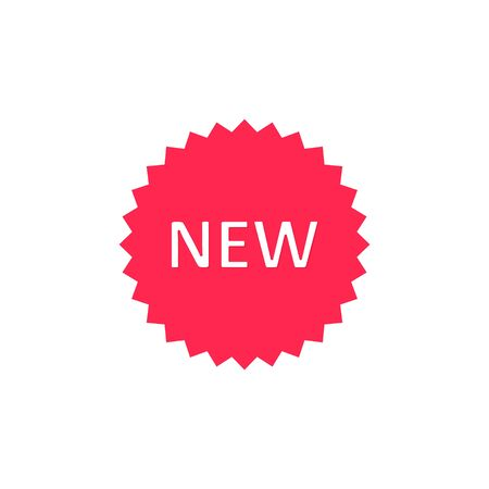 New tag icon. Vector isolated flat illustration.