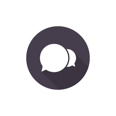 Speech Bubble Vector Icon isolated on circle. Speech bubble button.  イラスト・ベクター素材