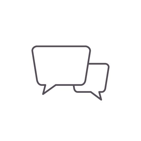 Speech bubbles icon line sign. Vector isolated flat design chat illustration.