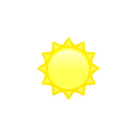 Sun icon. vector logo in flat style isolated on white.