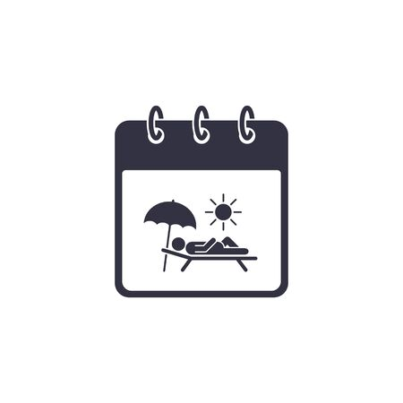 Calendar with Vacation sign. Planning travel concept. Vector illustration.