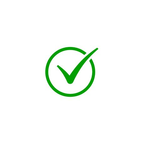 Check Mark Isolated Flat Web Icon, Vector Sign.