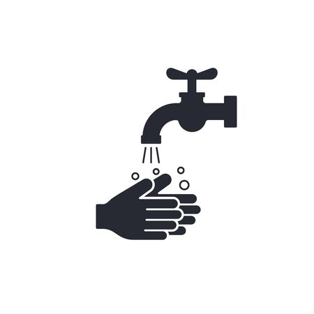 Wash your hands icon, hygiene concept Vector isolated illustration.