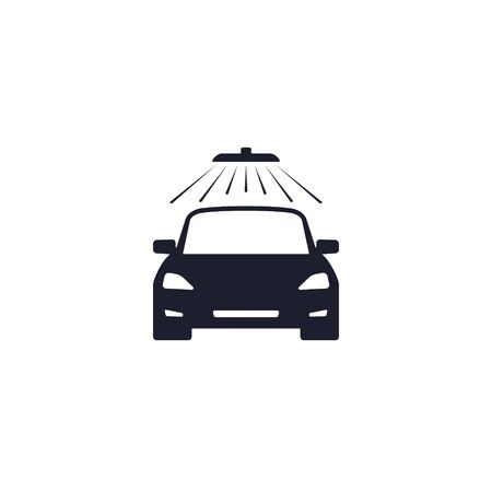 car wash icon on white background, Vector isolated symbol.