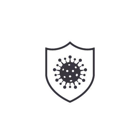 Coronavirus protection shield icon. vector isolated illustration. Stockfoto - 144302506