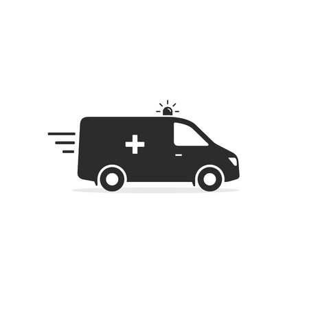 Ambulance car icon, Vector isolated simple flat illustration.