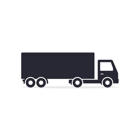 Delivery truck icon isolated on white background. Vector side view silhouette illustration. Stockfoto - 145208758