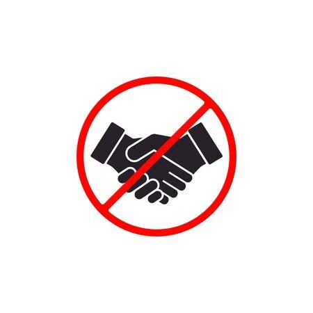 No Handshake icon. Vector illustration. No dealing sign.