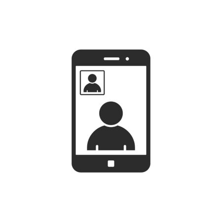Smart Phone Video Call icon, Vector isolated illustration.