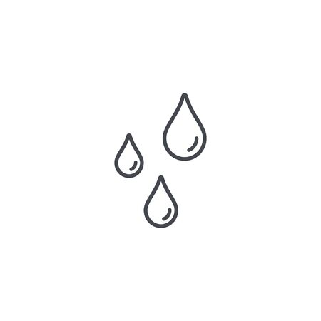 Drops line icon. Vector flat style isolated illustration.