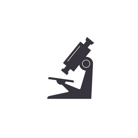 Microscope icon. Vector isolated simple sign in flat design.
