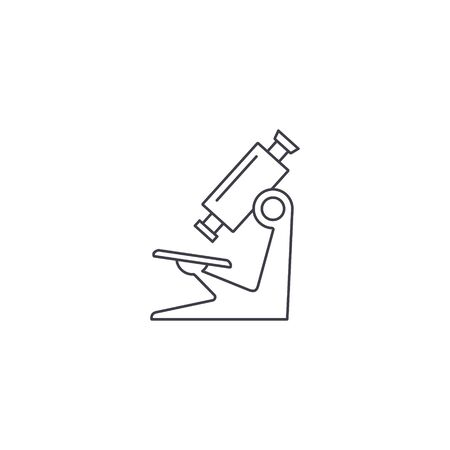 Microscope line icon. Vector isolated simple outline sign in flat design.