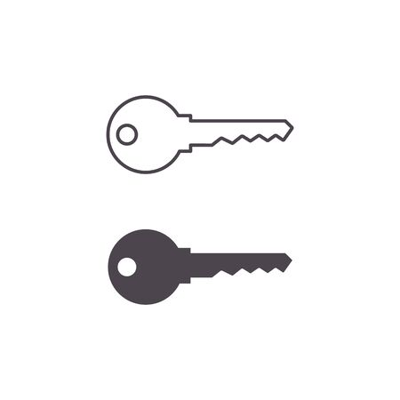 Key icon set, Vector symbol isolated on white background. Stockfoto - 147200214