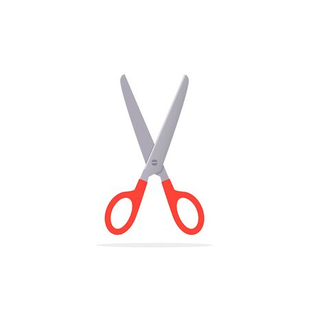 Scissors icon, vector flat design illustration isolated on white background.  イラスト・ベクター素材