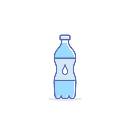 Water bottle icon, Vector isolated simple flat design Illustration.