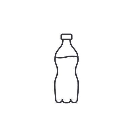 Water bottle line icon, Vector isolated simple flat design outline Illustration.