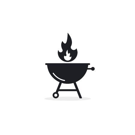 BBQ Barbecue Grill icon, Vector isolated symbol on white background.