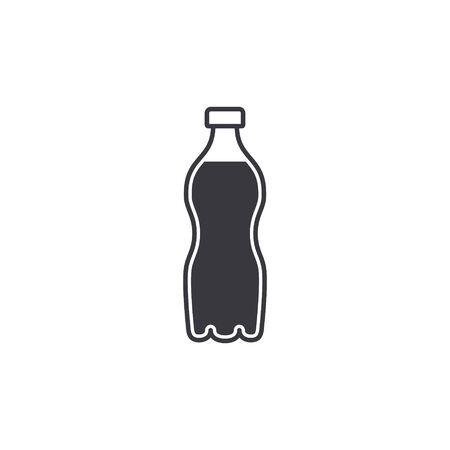 Water plastic bottle icon, Vector isolated simple flat design Illustration.