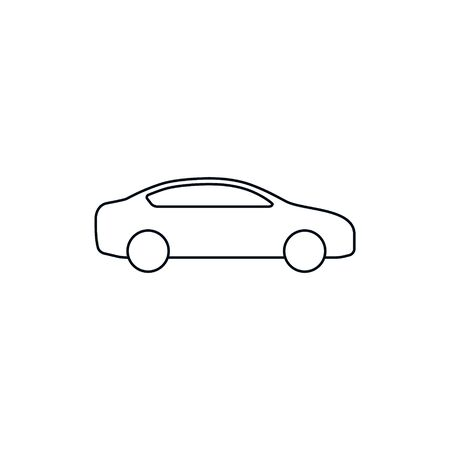 Car line Icon, Vector isolated illustration. Side wiew car silhouette.