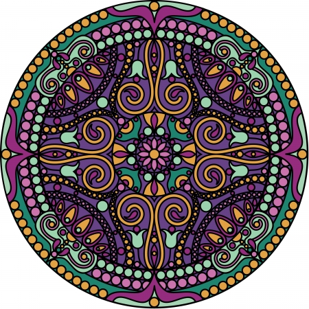 vector illustration of oriental mandala Vector