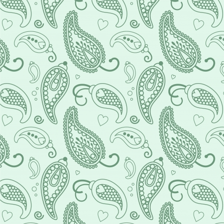 light blue lace lines paisley pattern Vector