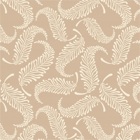 White feathers pastel vector pattern  Illustration